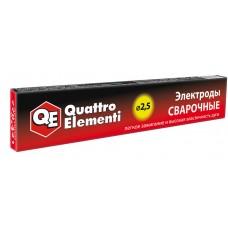 Электроды сварочные рутиловые QUATTRO ELEMENTI, 2,5 мм, масса 0,9 кг 770-421