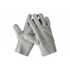Перчатки спилковые серого цвета сорта А